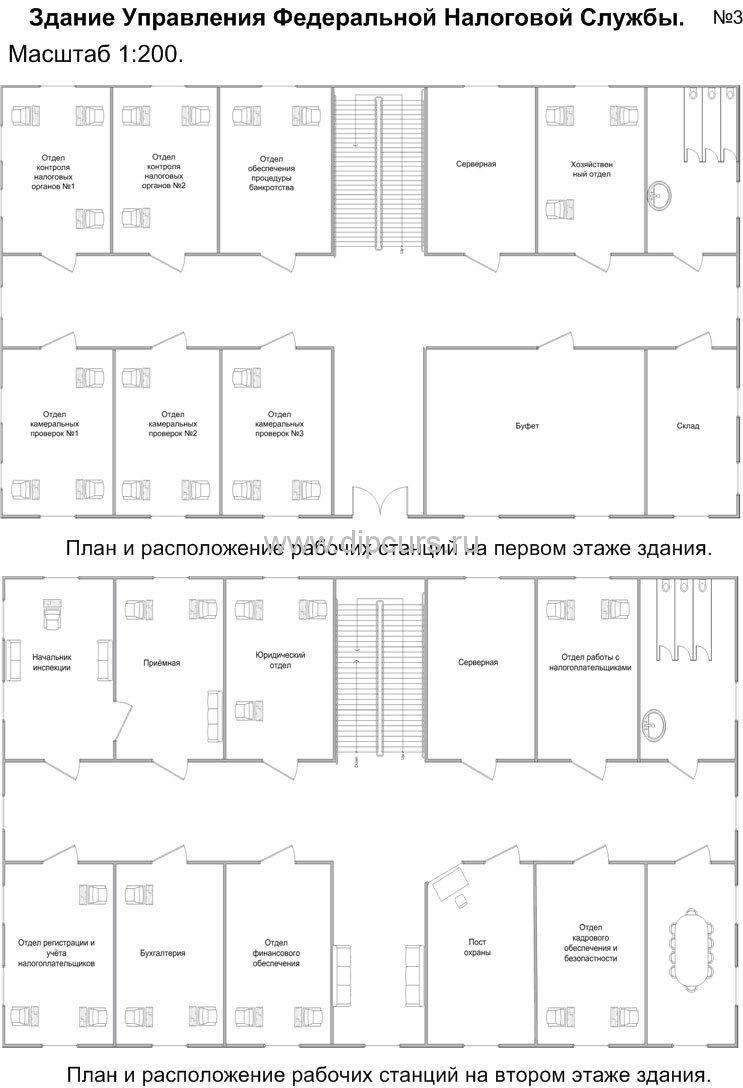 Компьютерные сети dipcurs Схема первого и второго этажа проекта