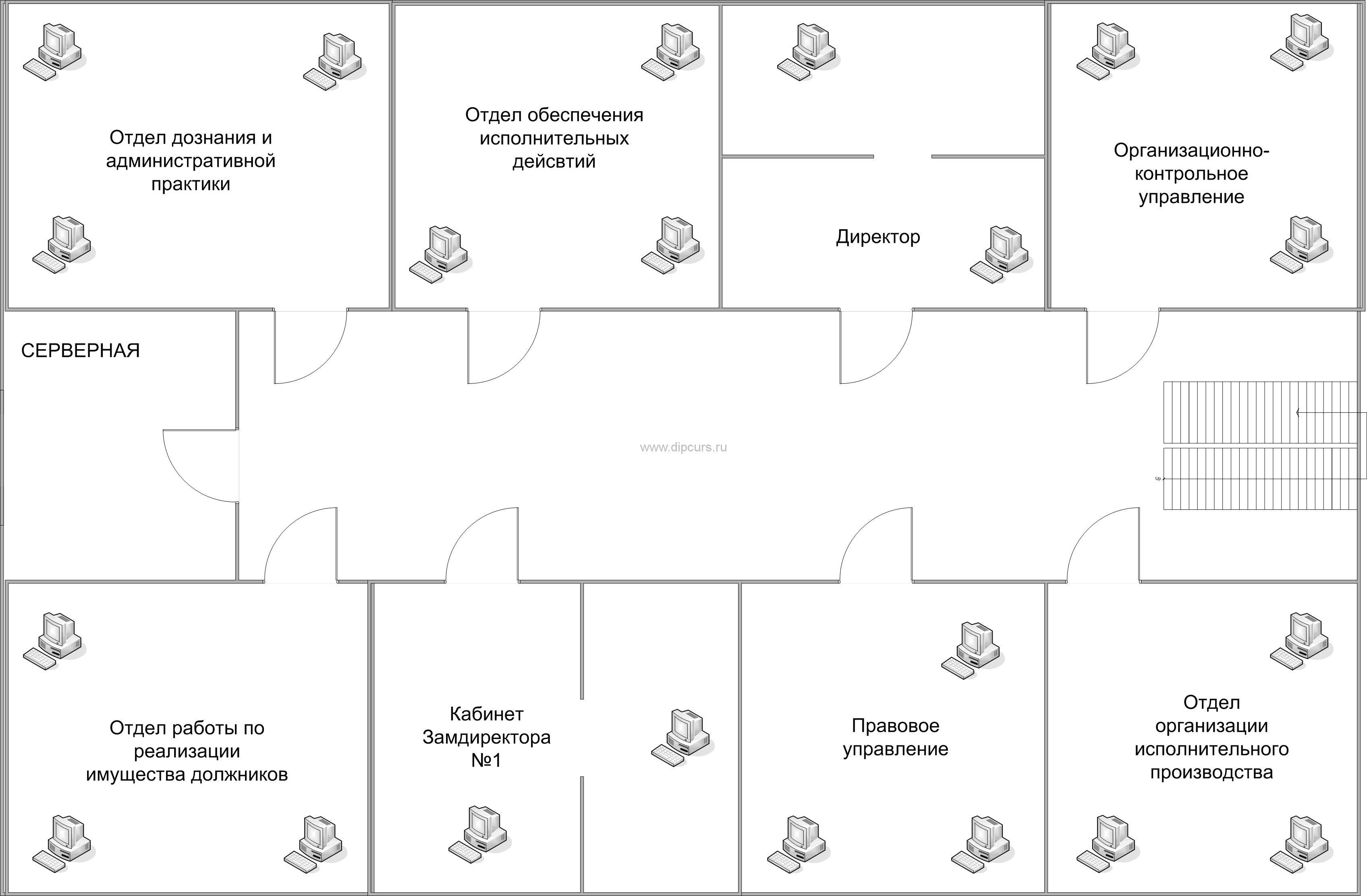 Компьютерные сети dipcurs Структура этажей здания в котором разрабатывается компьютерная сеть