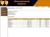 Список учащихся группы в электронном журнале дипломного проекта
