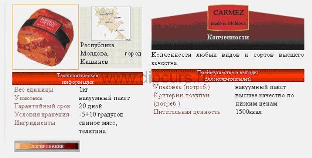 Дипломная работа Разработка сайта php mysql корпоративный  Дипломная php программирование краткое описание пищевой продукции